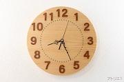 檜の掛け時計