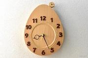 檜で作った卵の時計
