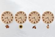 四季を楽しむ檜の振り子時計