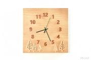 木立の掛け時計