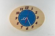 青空掛け時計