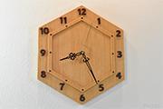 亀甲時計(けやき)