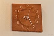 屋久杉の掛け時計