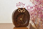 ふくろうの置き時計
